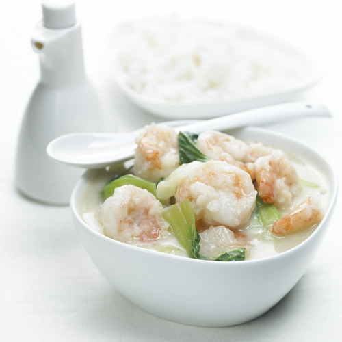 Thai Green Curry With King Prawns Recipe — Dishmaps