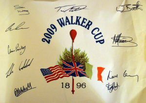 The Walker Cup player signatures 2009